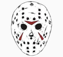 White Jason Hockey Mask by OcTag3n