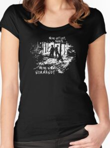We're in Normandy Women's Fitted Scoop T-Shirt