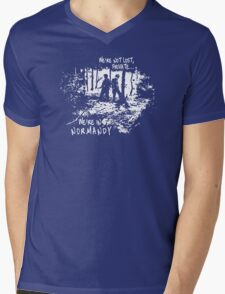 We're in Normandy Mens V-Neck T-Shirt