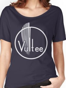 Vultee Aircraft Logo (White)  Women's Relaxed Fit T-Shirt