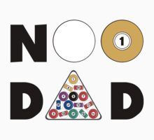 """Father's Day """"#1 Dad"""" Pool Player by HolidayT-Shirts"""
