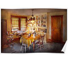 Kitchen - Typical farm kitchen  Poster