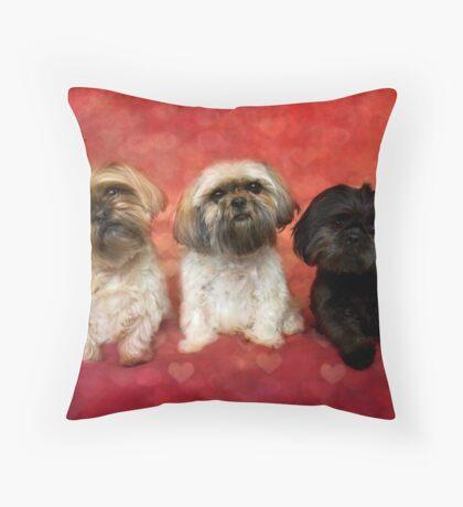Lovely Trio  Throw Pillow