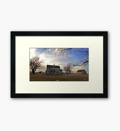 Old Prairie Homestead Framed Print