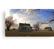 Old Prairie Homestead Canvas Print