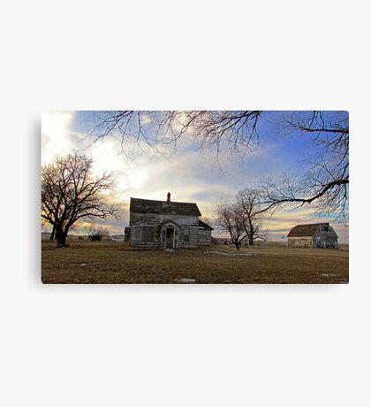 Old Prairie Homestead Canvas Print