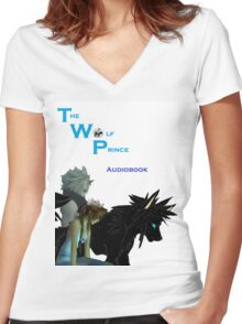The Wolf Prince Audiobook White Women's Fitted V-Neck T-Shirt