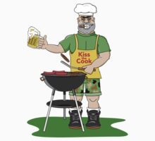 """Father's Day """"Kiss The Cook"""" by HolidayT-Shirts"""
