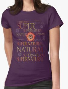 Supernatural In Red Womens Fitted T-Shirt