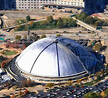 Civic Arena Aerial Digital Painting by shutterrudder