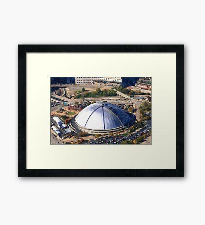 Civic Arena Aerial Digital Painting Framed Print