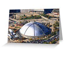 Civic Arena Aerial Digital Painting Greeting Card
