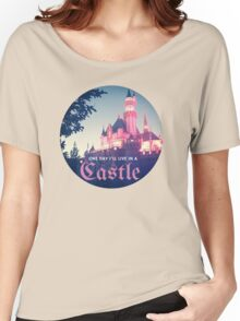 Magic Kingdom Castle Princess Typography Fairy  Women's Relaxed Fit T-Shirt