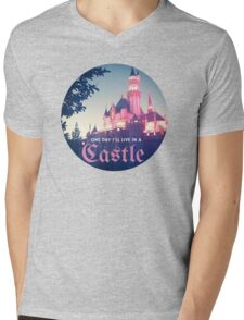 Magic Kingdom Castle Princess Typography Fairy  Mens V-Neck T-Shirt