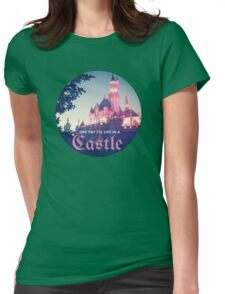 Magic Kingdom Castle Princess Typography Fairy  Womens Fitted T-Shirt