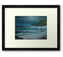 Blue Hawaiian Moonlight Framed Print
