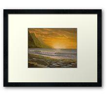 Sunset Pools Framed Print