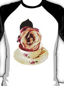 Old Cup & Vintage Rose. T-Shirt