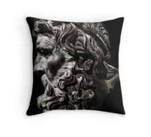 Head of Neptune Throw Pillow