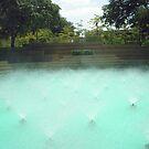 Aerating Pool -- Ft Worth Water Gardens by AJ Belongia