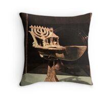Hebrew Menorah for Hannukah Throw Pillow