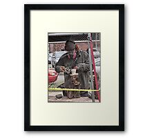 groundhog sculpture Framed Print