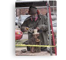 groundhog sculpture Canvas Print