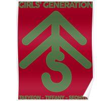 Girls' Generation TaeTiSeo Christmas Tree Logo - Green Poster