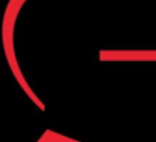 Knight 2000 Red Pocket Logo Sticker