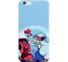 Ruby and Sapphire - Flower Crown iPhone Case/Skin