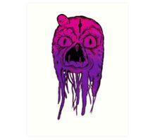 Squid Face Art Print