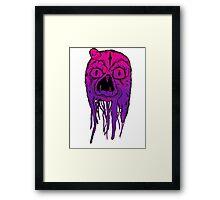 Squid Face Framed Print
