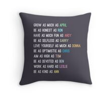 Parks characters Throw Pillow
