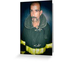 sexy fireman Greeting Card