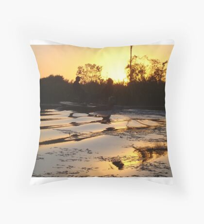 Fish Stories Throw Pillow