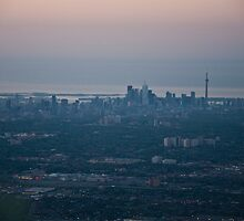 Sun Setting over Toronto by kgallant