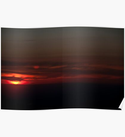 Airplane Sunset 2 Poster