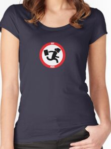 INTERSECT (NERD HERD) - Logo Only Women's Fitted Scoop T-Shirt