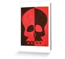 Two Faced Red Greeting Card
