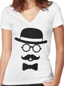 Like A Sir Women's Fitted V-Neck T-Shirt
