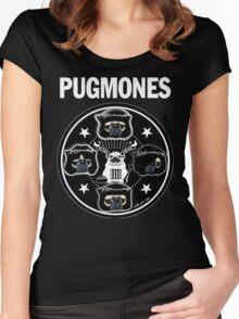 PUGMONES Women's Fitted Scoop T-Shirt