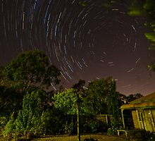 """Star Trails"" in my garden by DavidONeill"