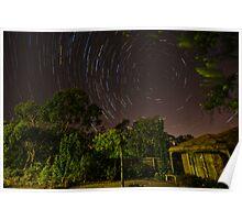 """""""Star Trails"""" in my garden Poster"""