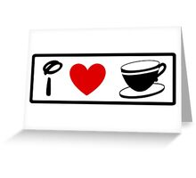 I Heart Tea Cups (Classic Logo) (Inverted) Greeting Card