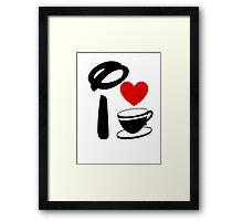 I Heart Tea Cups Framed Print