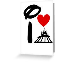 I Heart Space Mountain Greeting Card
