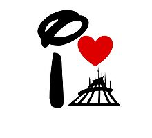 I Heart Space Mountain Photographic Print