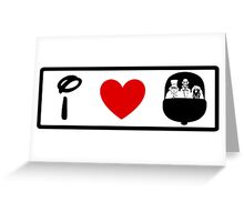 I Heart Haunted Mansion (Classic Logo) (Inverted) Greeting Card