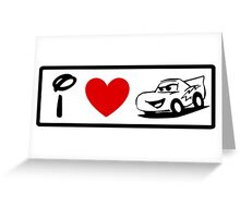 I Heart Cars Land (Classic Logo) Greeting Card