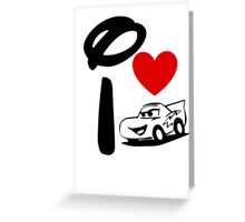I Heart Cars Land Greeting Card